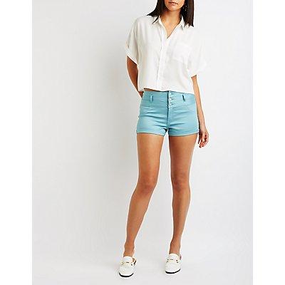 Refuge High Rise Shortie Shorts
