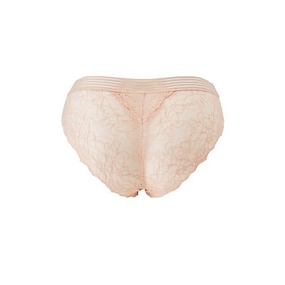 Plus Size Caged Lace Back Cheeky Panties