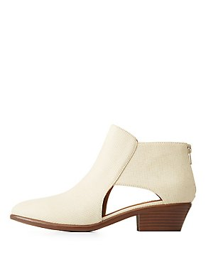Cut Out Chelsea Booties