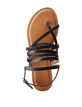 Criss Cross Braided Sandals