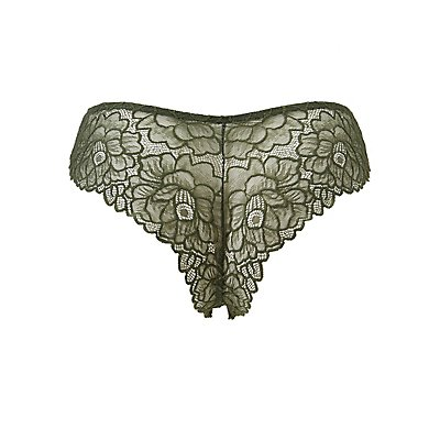 Plus Size Floral Lace Back Cheeky Panties