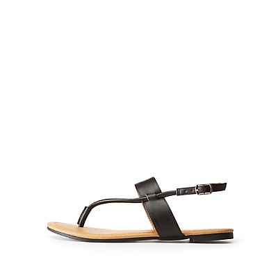 T-Strap Flat Sandals