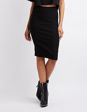 High-Waisted Pencil Skirt