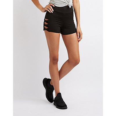 Stretchy Cut-Out Shorts