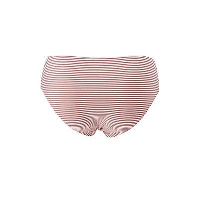 Plus Size Striped Laser Cut Panties
