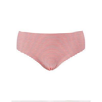 Plus Size Striped Laser Cut Panties