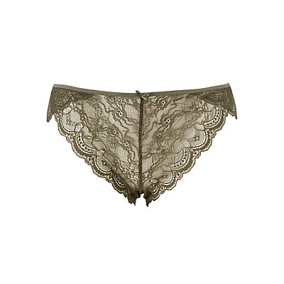 Plus Size Caged Back Lace Panties