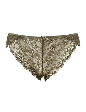 Plus Size Caged Back Lace Panties