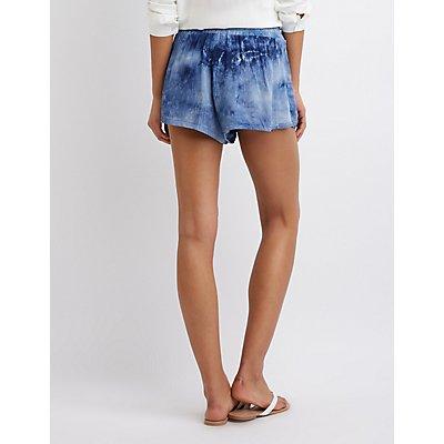 Tie Dye Woven Shorts