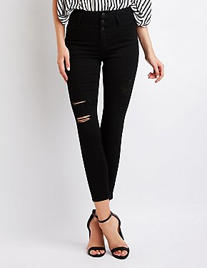 Refuge Destroyed High Waist Skinny Jeans