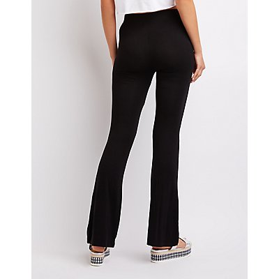 Lace-Up Flare Pants
