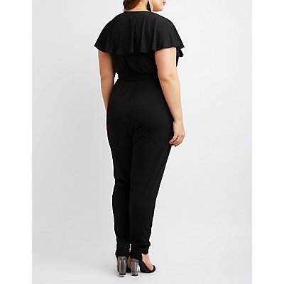 Plus Size Ruffle-Trimmed Jumpsuit