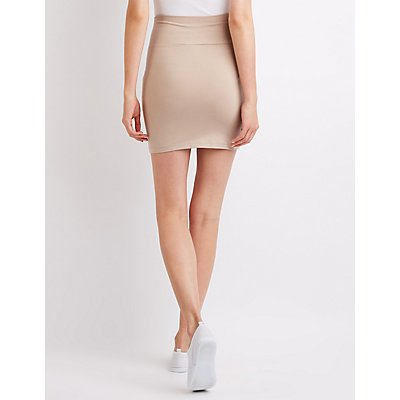 Foldover Mini Skirt