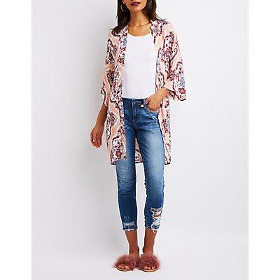Printed Long Kimono