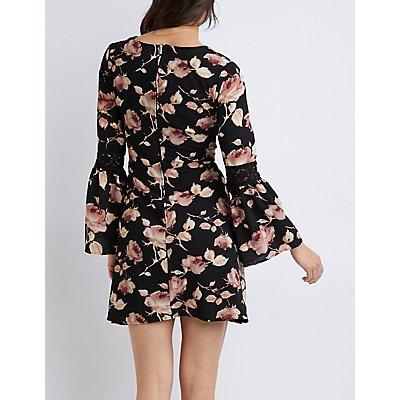 Floral Crochet A-Line Dress