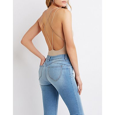 Strappy-Back Bodysuit