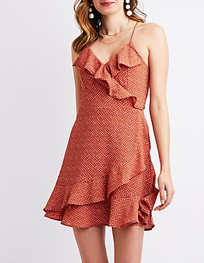 Ruffle-Trim Wrap Dress