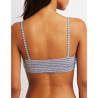 Stripe Cut Out Bralette