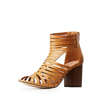 Open Toe Caged Sandals
