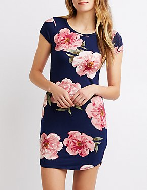 Floral T-Shirt Knit Dress