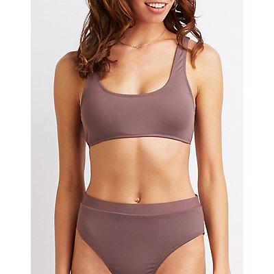 Scoop Neck Bikini Top