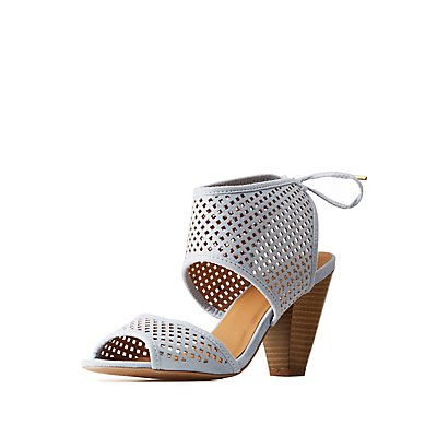 Perforated Ankle Sandals