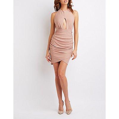 Halter Cut-Out Bodycon Dress