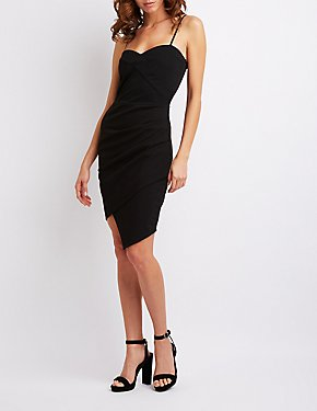 Sleeveless Ruched-Detailed Dress
