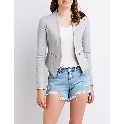 Collarless Crop Blazer