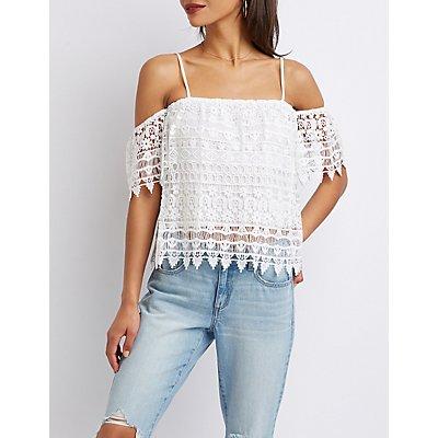 Crochet Cold-Shoulder Top