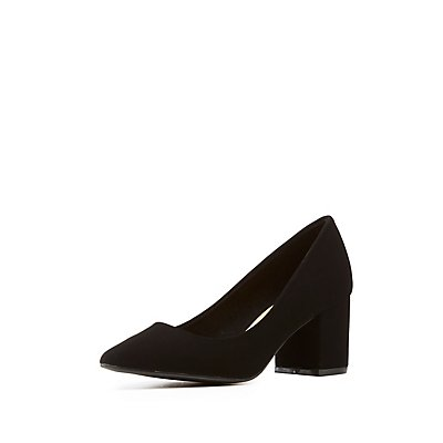 Bamboo Pointed Toe Pumps