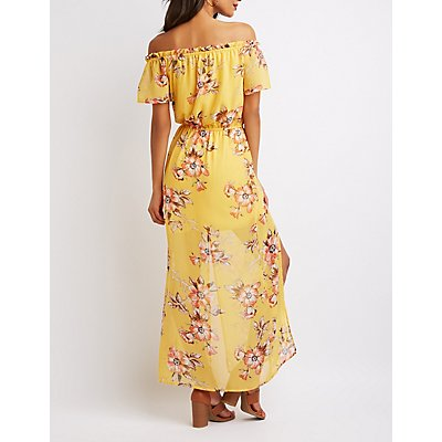 Floral Off-The-Shoulder Maxi Dress