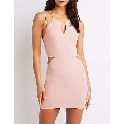 Strappy Cut-Out Bodycon Dress