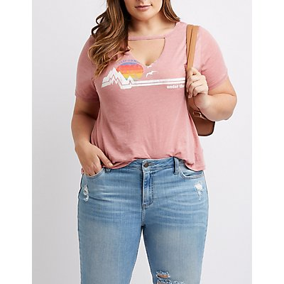 Plus Size California Cut-Out Tee