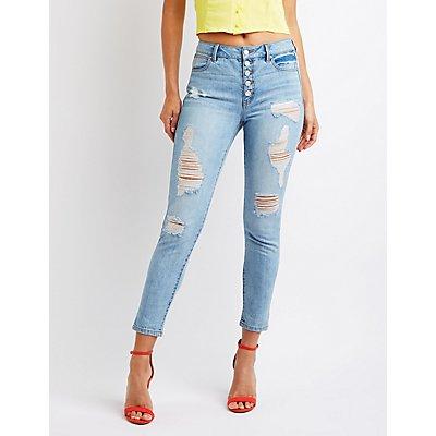 Refuge Destroyed Mom Jeans