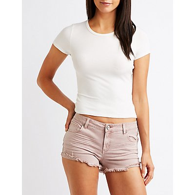 Refuge Cut Off Shortie Shorts
