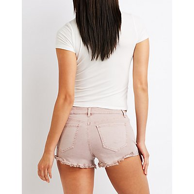 Refuge Cut Off Shortie Shorts