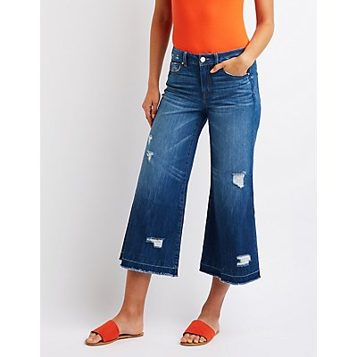 Refuge Destroyed Wide Leg Jeans