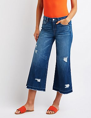 Refuge Destroyed Wide Leg Jeans