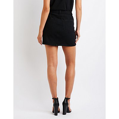 Refuge Button Up Denim Skirt