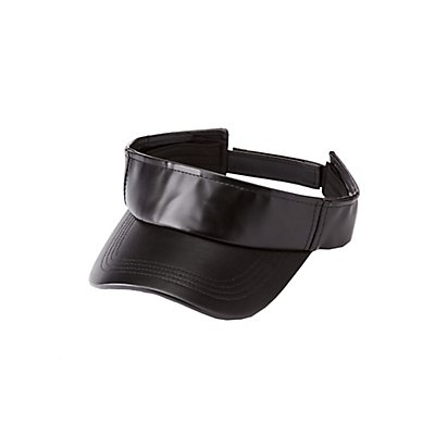 Faux Leather Sun Visor at Charlotte Russe in Cypress, TX | Tuggl