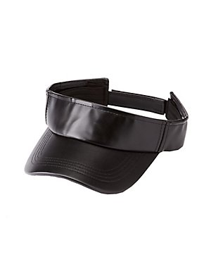 Faux Leather Sun Visor