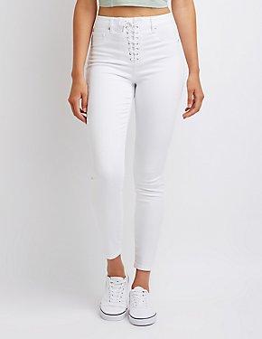 Refuge Lace Up Skinny Jeans