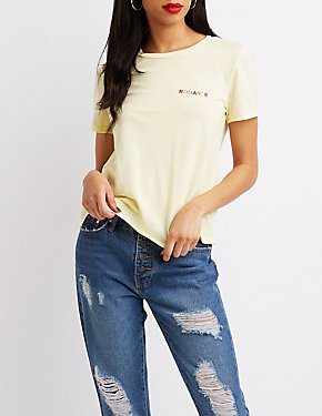 Romance Embroidered Tee