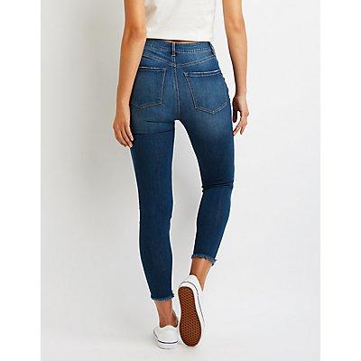Refuge Destroyed High-Rise Skinny Jeans
