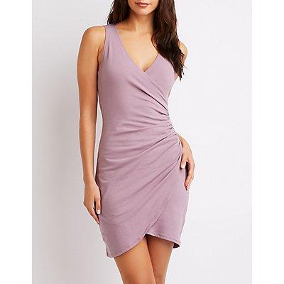 Wrap V-Neck Bodycon Dress