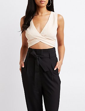 Twist-Front Crop Top