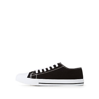 Qupid Lace-Up Sneakers