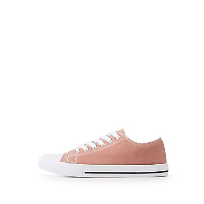 Qupid Canvas Lace-Up Sneakers