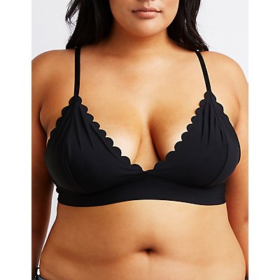 Plus Size Scalloped Bralette